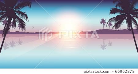 paradise palm beach landscape summer background 66962878