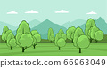 Summer landscape with trees 66963049