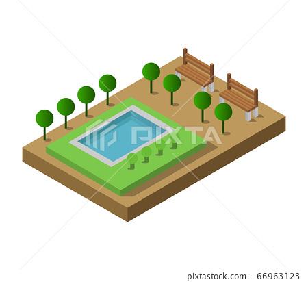 isometric swimming pool 66963123