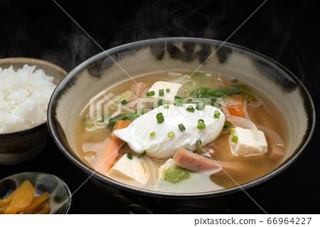 Okinawa cuisine Uchina miso soup set meal 66964227