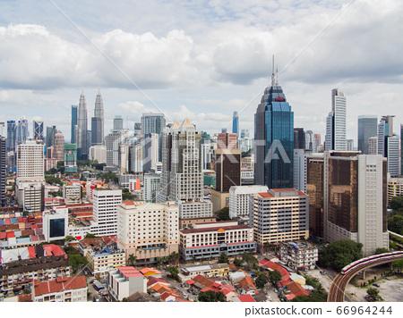 Panorama with skyscrapers in the capital of Malaysia, Kuala Lumpur. 66964244