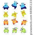 Vector illustration of cute Monsters 66965133