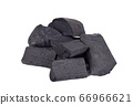 Natural wood black charcoal a on white background 66966621