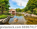 Beautiful view of Japanese Garden in Planten um Blomen park, Hamburg, Germany 66967417