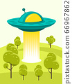 UFO cartoon unknow flying object 66967862