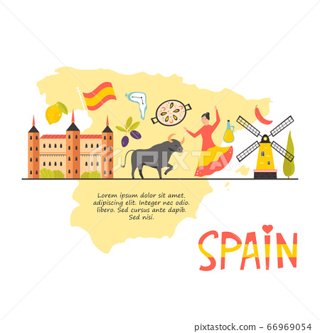 Tourist poster with famous destinations and 66969054