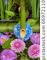 花手水與七彩花朵漂浮 66972110
