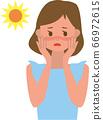 患晒伤的女人 66972615
