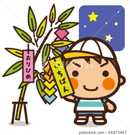Gakkou Kids Tanabata Boy祝愿星星 66973967