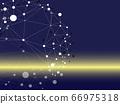 네트워크, 기하학 패턴, 어두운 배경에 밝은 빛 66975318