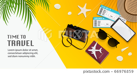 Travel infographic, time to travel vector 66976859
