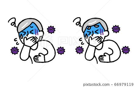 바이러스 구역질이 수석 남성 여성 (단순) 66979119
