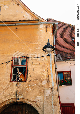 Medieval old house in Sibiu, Romania 66980387