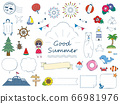 Hand drawn cute summer illustration collection 66981976