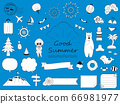 Hand drawn cute summer illustration collection 66981977