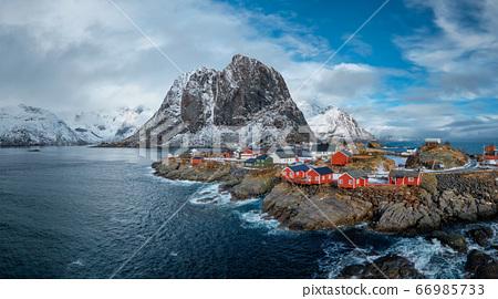 Hamnoy fishing village on Lofoten Islands, Norway 66985733