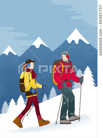 Cartoon of people health care in winter illustration 001 66985797