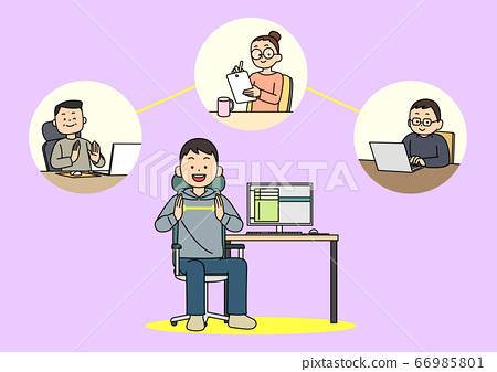 Preventive measures against the virus illustration 011 66985801