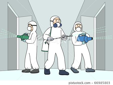 Preventive measures against the virus illustration 010 66985803