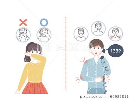 Preventive measures against the virus illustration 005 66985811