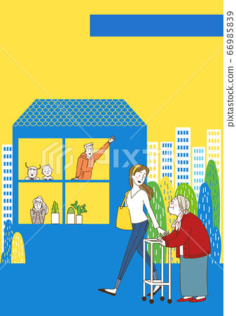 Sharing economy concept, various sharing services with people characters, smartphones illustration 011 66985839