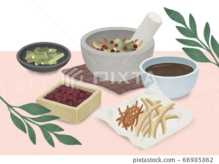 Alternative medicine and treatment concept in flat illustration 014 66985862