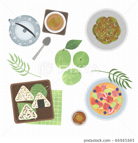 Korean cuisine flat vector collection of dishes illustration 006 66985865