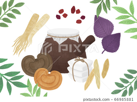 Alternative medicine and treatment concept in flat illustration 005 66985881