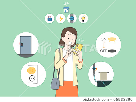 Concept of modern technology devices for smart life cartoon illustration. 020 66985890