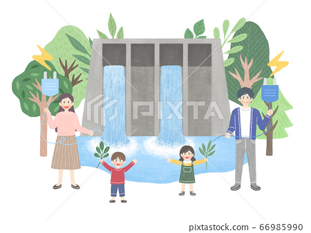 Eco green energy lifestyle concept in flat design illustration. 013 66985990