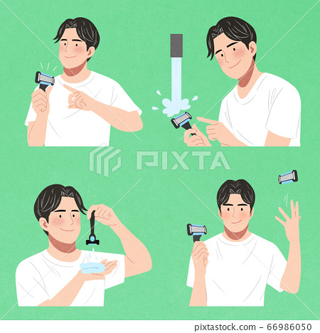 Set of men characters icon, male beauty concept illustration 012 66986050