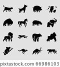 Set of different animals icon flat style illustration 003 66986103