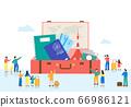Trade fair concept. Showcase of specific industry flat design illustration 008 66986121