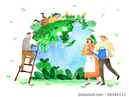 Concept of eco with family illustration 012 66986152