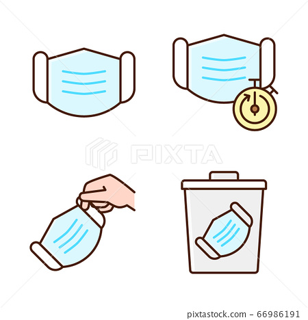 Preventive measures against the virus in a flat design icon set 009 66986191