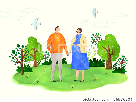 Concept of eco with family illustration 002 66986204