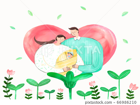 Concept of eco with family illustration 003 66986210