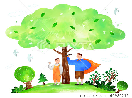 Concept of eco with family illustration 006 66986212