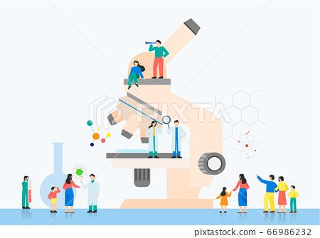 Trade fair concept. Showcase of specific industry flat design illustration 002 66986232