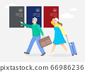 Daily llife of happiness people concept flat illustration 007 66986236