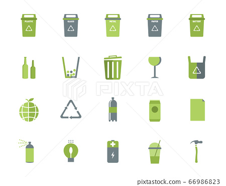 Trash can icons and recycle icons set,Vector illustrations. 66986823