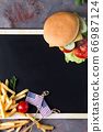 Tasty grilled homemade burger cooking with beef, 66987124