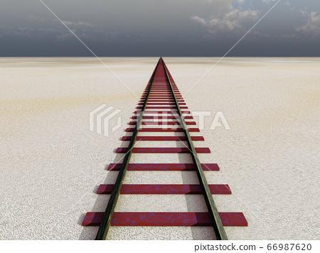 Rail in the desert 66987620