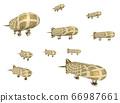 Fantasy airships isolated on white background 66987661