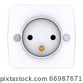 Socket isolated on white background 66987671