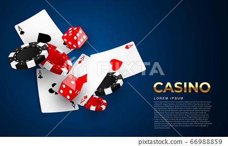 Playing card. Winning poker hand casino chips 66988859