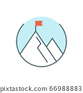 thin line business mission icon 66988883
