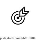 outline target, challenge, objective icon. editable stroke 66988884