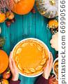Pumpkin pie, different pumpkins, fall fruit 66990566