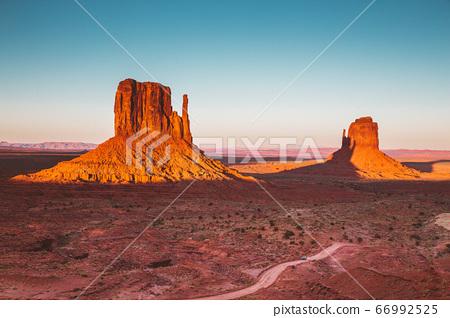 Monument Valley at sunset, Arizona, USA 66992525